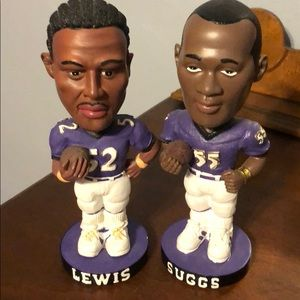 Set  Ravens Lewis & Suggs Bobbleheads